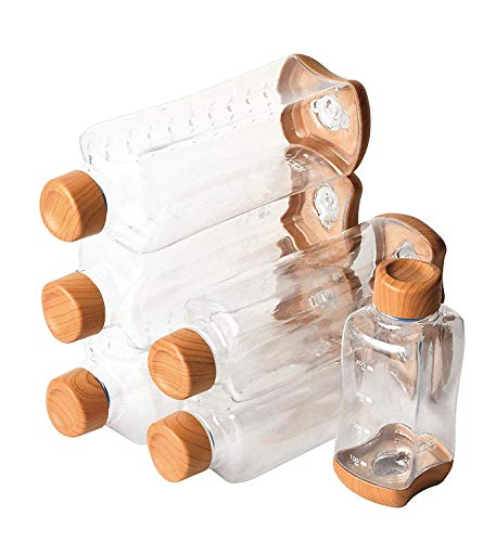 パール金属(PEARL METAL) マグボトル ウッド調×クリア 500ml プラスチックアクアボトル ブロックスタイル HB-4854