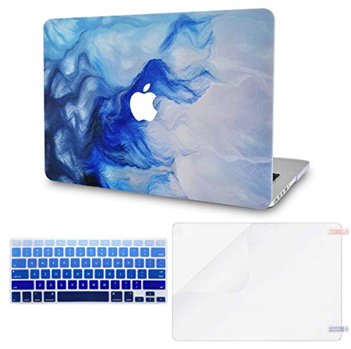LuvCase 3 in 1 Bundle Rubberized Plastic Hard Shell Cover with Keyboard Cover and Screen Protector Compatible MacBook Pro 16 Touch Bar Case A2141 2019 Release (Mist 12)