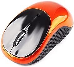 Phoneix Wireless Mouse 2.4GHz Cordless Optical Mice DPI USB Receiver for PC Laptop Black&Orange