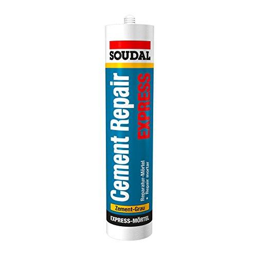 Preisvergleich Produktbild Soudal Cement Repair Express,  Reparatur-Mörtel mit körniger Struktur,  Farbe: Zement-Grau,  Kartusche: 300ml
