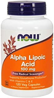 ALPHA LIPOIC ACID, 100 mg, 120 Vcaps by Now Foods (Pack of 6)