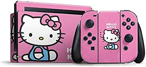 Skinit Decal Gaming Skin for Nintendo Switch Bundle - Officially Licensed Sanrio Hello Kitty Sitting Pink Design
