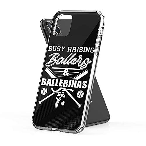 Funda de teléfono compatible con Busy Samsung Raising iPhone Ballers 12/11 Ballerinas Pro Baseball Max Dance 12 Mini Mom SE X/XS Max XR 8 7 6 6s Plus Funda TPU Clear Slim Fit