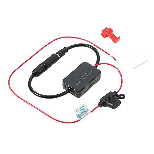 Walmeck 12V ANT-208 Car FM&AM Radio Antenna Signal Amp Amplifier Booster Signal Enhancer Device Antenna Signal Amp Amplifier