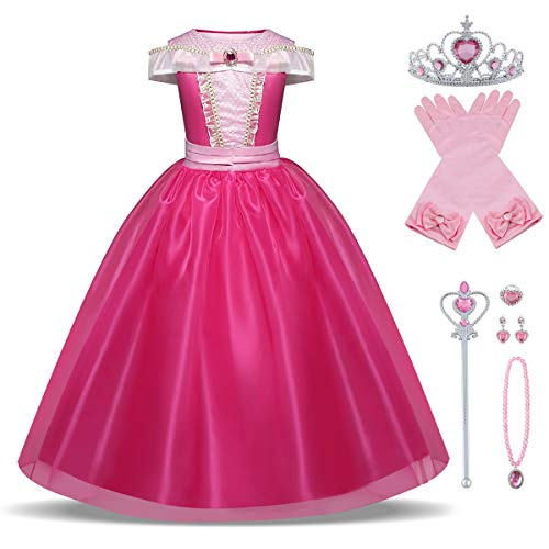 Canberries Vestido de princesa para niña, disfraz infantil,