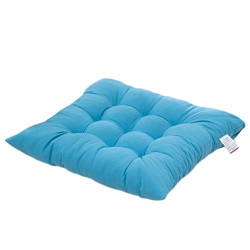 Worsendy Cuscino Sedia, Cuscini per Giardino, per Dentro e/o Fuori,40x40 cm,Disponibile in Tanti Colori Diversi,Cuscini per sedie da Giardino,Copri Sedia Cucina (Blu)