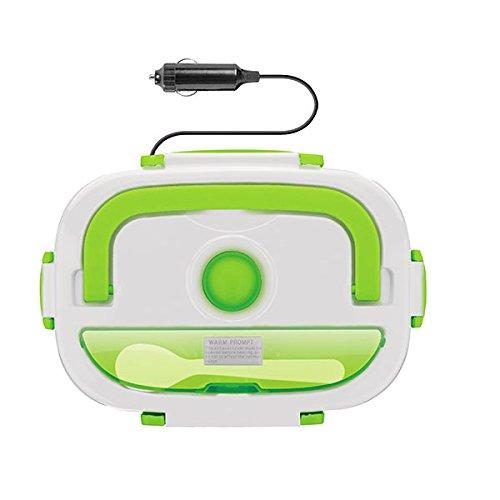 Bento Boite Repas-Mundioutlet Taper Gamelle électrique pour la maison ou la voiture Enchufe para Coche vert