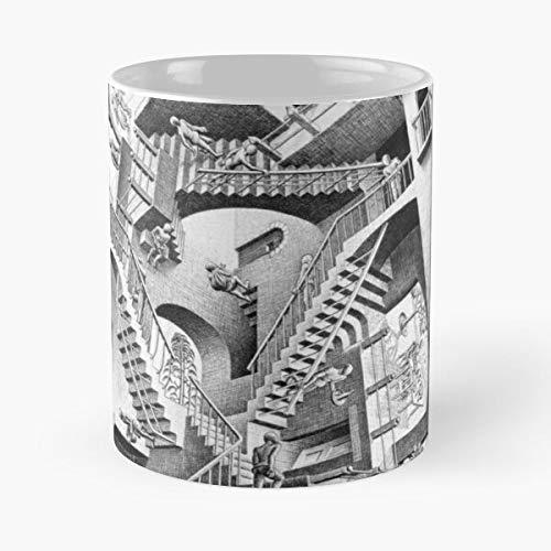 Generic Illustrator Weird Painter Ink Carving Wood Escher Infinity Best 11 oz Kaffeebecher - Nespresso Tassen Kaffee Motive