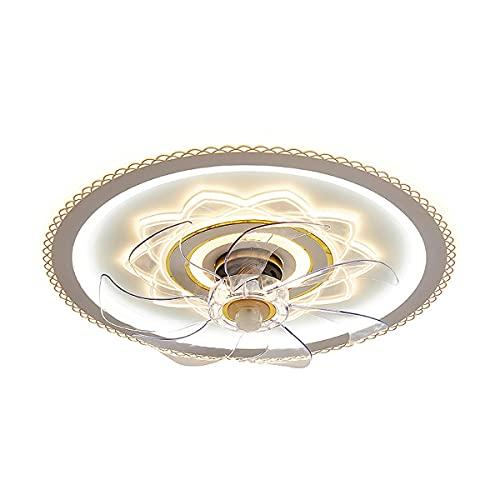 MINGRT Moderno Lámpara Ventilador Techo Dimable Luz LED Techo con Control Remoto Silencioso Ventilador de Techo 3 Velocidades Ajustable Ventilador con IluminacióN Para Salón Dormitorio Comedor