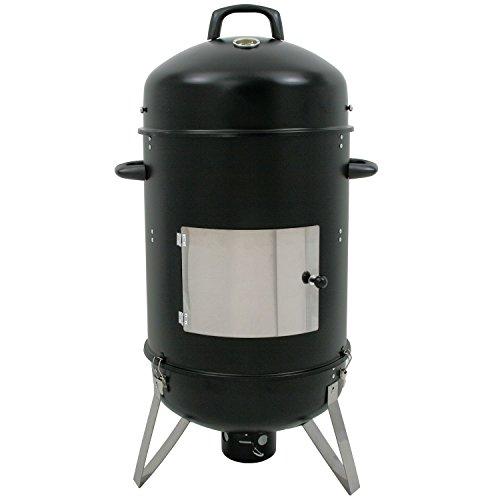 """BBQ-Toro Barbacoa Ahumador """"Hickory"""" I Ø 46 cm x 107 cm I Horno para Ahumar I Barbacoa de Carbón"""
