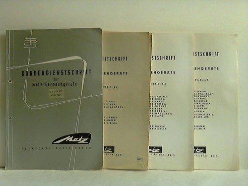 9 Kundendienstschriften für Metz-Fernsehgeräte