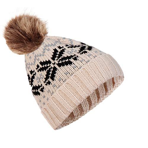 Bonnet Femme Hiver Hommes Tricot Bonnet d'hiver Chapeau Pom Pom Bobble Chapeau Bonnet pour Filles Enfants Laine Tricot Casquettes De Ski Bonnet Crâne Slouchy Crochet Chapeau d'hiver