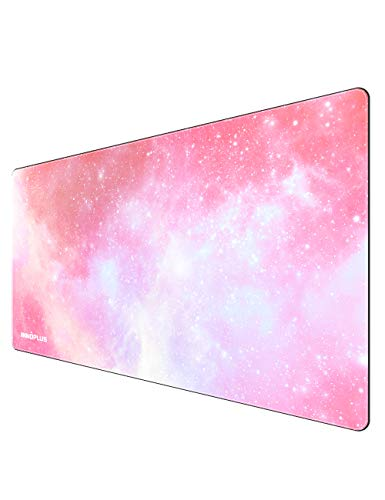 Gaming Mauspad, Mauspad xxl, Mouse Pad, Gaming Mousepad pc Unterlage, xxl Mauspad Computer, Maus Pad 800 x 400mm, Extended Gaming Matte Large Size, Mouspad Gamer Rutschfest - Strapazierfähig Rosa