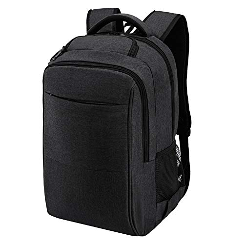 Business Einfache Schultertasche für Männer und Frauen, Rucksack, große Kapazität, Reisetasche, leicht, Computer-Tasche, Trendtasche, dunkel (28 l) Gr. L, B-schwarz