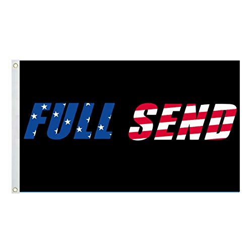 Amoo Full Send Flag 3x5Ft Nelk Nelkboys for The Boys Banner, Funny Flag UV Resistant Perfect for Tailgates Dorm Room College Football Fraternities Parties Large Sporting Events