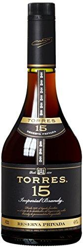TORRES BRANDY 15 RESERVA PRIVADO (1x 0,7l) – aus der spanischen Weinbauregion Penedès – in statischer Lagerung und Solera-Verfahren gereift – 70cl mit 40% vol. - 5