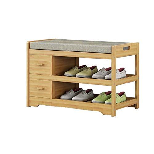 WY-YAN Zapatero Zapato gabinete del Zapato Zapatos de bambú Simples Almacenamiento de Las heces de Almacenamiento en Rack Moderna heces 70x34x45cm Zapato