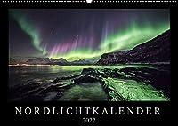Nordlichtkalender (Wandkalender 2022 DIN A2 quer): Nordlichter, aufgenommen in Nordnorwegen (Monatskalender, 14 Seiten )