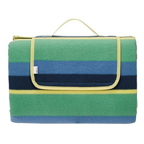 Amazon Basics - Picknickdecke, campingdecke mit wasserdichter Unterseite, 175 x 200 cm