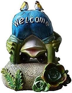ガーデンバルコニーソーラーライトカエルフクロウの装飾品ガーデンコートヤードデコレーション 誕生日プレゼント 置物 インテリア ガーデニング