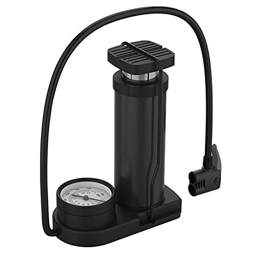 Wwtt Pompa Mini Pompa Bici in Lega di Alluminio - Colorata - Portatile - Pompa a Mano Valvola Presta e Schrader per Bici da Strada Mountain Bike Palle Palloncini (Color : Black, Size : Style2)