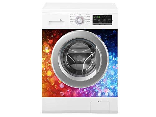 Oedim Waschmaschine farbige Druck | Verschiedene Maße 70 x 70 cm | Beständiger und leicht aufzutragender Klebstoff | Eleganter Entwurfs-dekorativer klebender Aufkleber