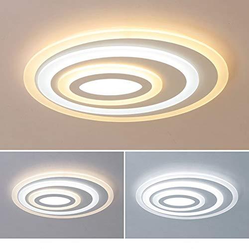 ZHHk Deckenleuchte. LED Deckenleuchte UFO Eisen Acryl Kronleuchter Kreis Ring Weiß Gelb Warmlicht Essen Wohnzimmer Zimmer Schlafzimmer Einfache Moderne