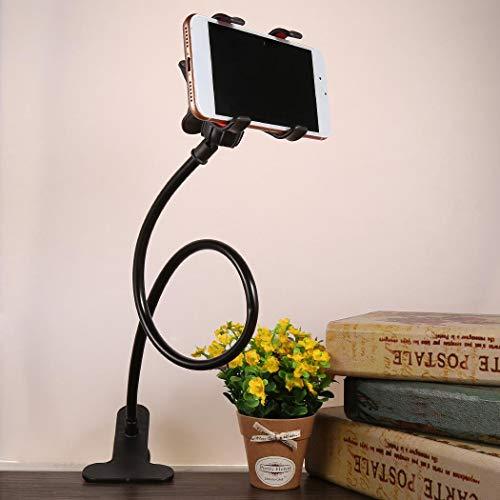 flowop Adjustable Long Arm Bed Desk Lazy Bracket Base Clips Smart Phone Stand Holder Stands