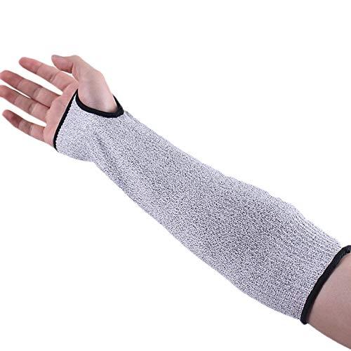 Mettime Funda protectora para brazo, anticortes, anticorte, línea anticorte; manga de brazo antiestática; línea de escalada, caza, seguridad en el trabajo (1 par) - 26 cm