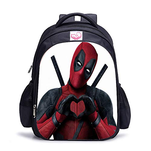 GuiSoHn Mochila de Viaje Deadpool Anime Bolsa de Lona Bolso de Escuela Estudiante Casual Backpack para Portátil
