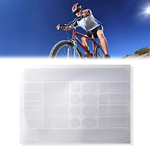 Marco 1sheet Bicicletas de Vaina Pegatinas de Vaina Protector Resistente del rasguño Cinta engomada de la Bici del Protector Protector de la Bici del Camino (Transparente) Decorativo del hogar