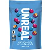 UNREAL Dark Chocolate Peanut Gems   Non-GMO, Vegan Certified, Colors from Nature   3 Bags -  Unreal Brands(UNXA0) -- Dropship
