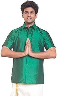 THANGAMAGAN Mens Shirt Green Size 36