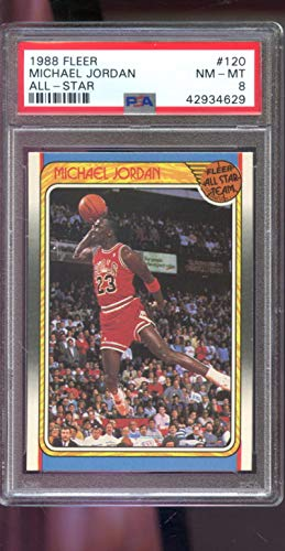 Michael Jordan Graded PSA 8 NM-MT (Basketball Card) 1988-89 Fleer - [Base] #120