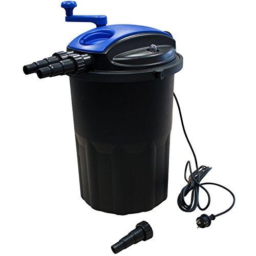 Kerry Electronics KER15000 Bio Druckfilter mit 24W UV-Einheit und Reinigungskurbel Teichfilter Filter für Teiche bis ca. 15000l mit UVC Klärer