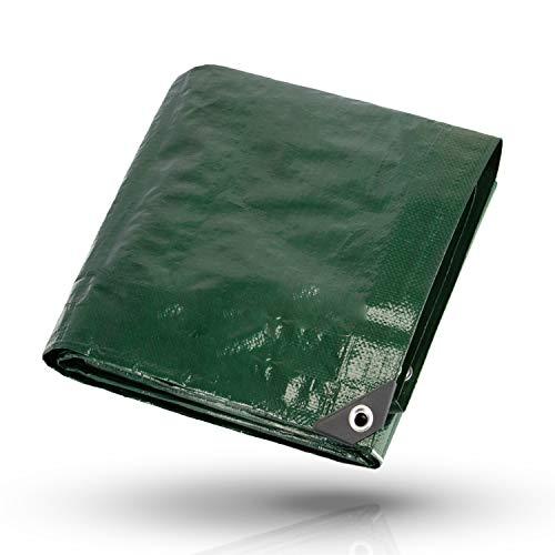 CoverUp! Lona Impermeable Exterior 4 x 5 m [200 g/m2] + 12 Bolas Bungee - Lona de protección con Ojales para Muebles de jardín, Piscina, Coche, Lona de protección Impermeable y Resistente a la Rotura