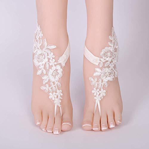 N-brand PULABO Zigeuner Volks Wind Fuß Dekoration Wassertropfen Edelstein Inlay Hand Schuhkette bequem und praktisch Beliebt