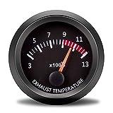 Tacómetro Coche 52mm Boost GAUGE AGUA TEMP ACEAR TEMP PRESIÓN DE ACEITE Turbo Medidores de presión Voltímetro Voltímetro de combustible de aire EGT Medidor de automóviles Gas de escape Temp Tacómetro