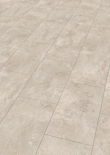 EGGER Home Laminat weiß / hell grau Steinoptik - Ceramic kreide  EHL002 (8mm, 2,533 m²) Klick Laminatboden | Bodenbelag im Fliesenformat