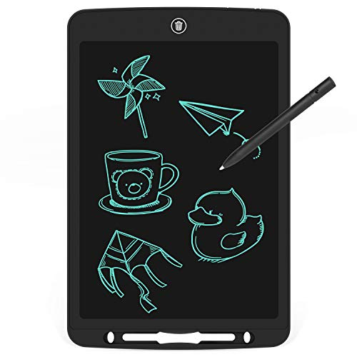 12 inch LCD Writing Tablet, Electronic Handwriting Pad for Drawing & Taking Note, Doodle Board Gifts for Kids and Adults at Home, School and Office (Black)