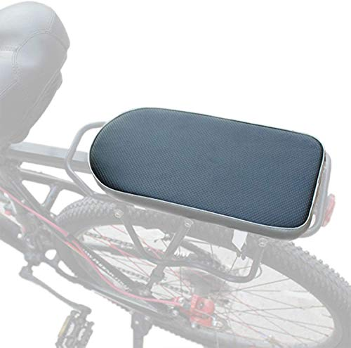 auvstar Fahrradrücksitz, Polstersattel mit Rückenlehne, für Kleinkinder, Kinder, Freunde, Lederbezug, für Befestigung am Gepäckträger (Hinteres Kissen)