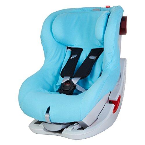 ByBoom - Sommerbezug Baumwolle für Kinder-Autositz, universal für z.B. Britax Römer KING II ATS, LS, KING PLUS, SAFEFIX PLUS/PLUS TT, Farbe:Aqua