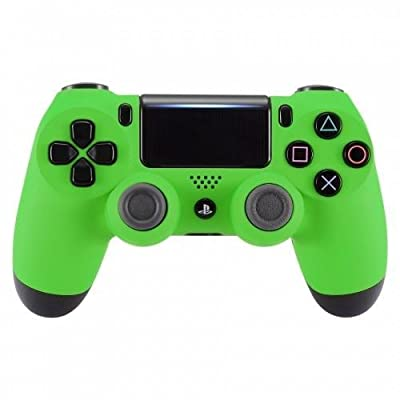Soft Touch Green PS4 PRO Rapid Fire Custom Modded Controller 40 Mods for All Major Shooter Games, Auto Aim, Quick Scope Sniper Breath & More (CUH-ZCT2U)