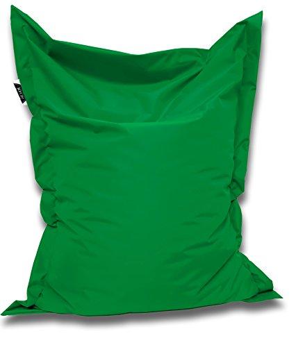 Patchhome Pouf et coussin d'assise carré Vert 200 x 145 cm