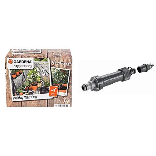 Gardena City Gardening Urlaubsbewässerung: Pflanzenbewässerungs-Set & Micro-Drip-System Basisgerät 1000: Grundgerät zur Druckreduzierung, Wasserdurchfluss ca. 1000 l/h