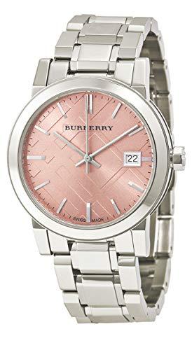 Swiss Rare Silver Pink Date Dial 34mm Women Stainless Steel Wrist Watch The City BU9124