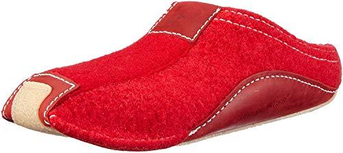 Haflinger Pocahontas, Unisex-Erwachsene Pantoffeln, Rot (Ziegelrot 85), 36 EU