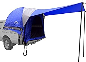 Hasika Waterproof Double Layer Full Size Truck Short Bed 5.5-5.8 Foot Tent with Floor Blue Grey