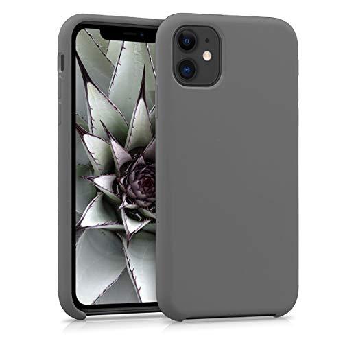 kwmobile Cover Compatibile con Apple iPhone 11 - Custodia in Silicone TPU - Back Case Protezione Cellulare Grigio Metallizzato