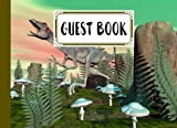 """Guest Book: Guest Book Compsognathus Dinosaur Cover , Guest book for Your Birthday Party, Anniversary, Bridal Shower, Visitors - 150 Pages, Size 8.25"""" x 6"""" by Gilbert Frey"""